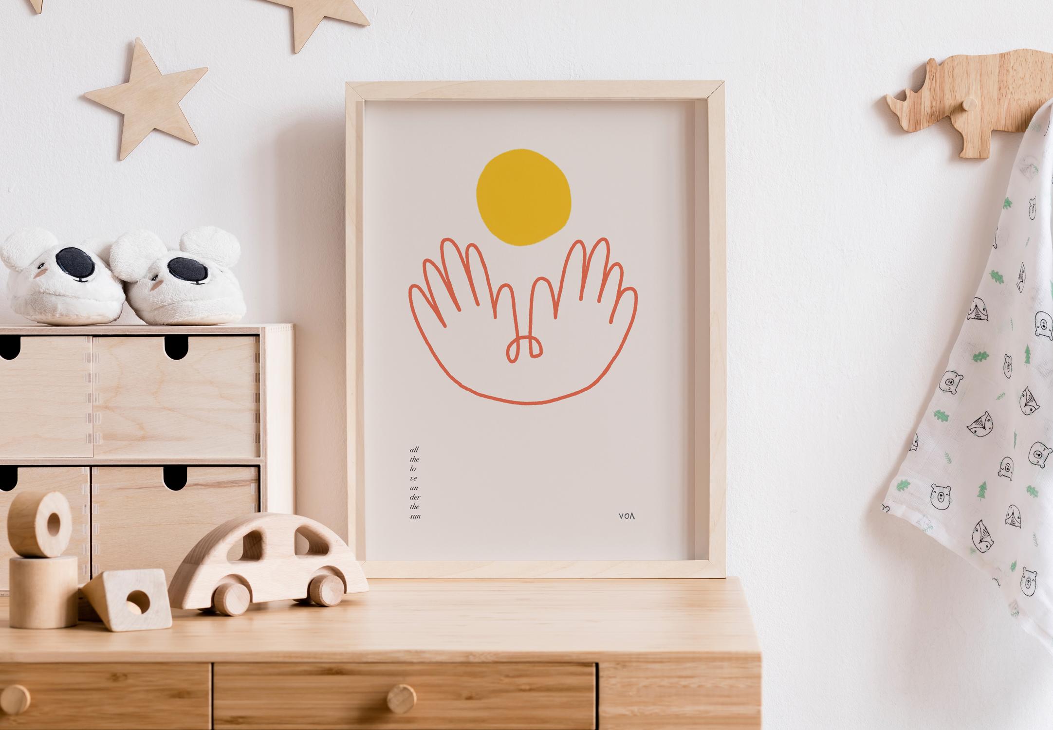 Wall art on motherhood by Victoria O'May